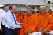 Hình ảnh Thủ tướng dự gặp mặt đại biểu tiêu biểu dân tộc Khmer