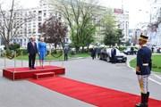 Hình ảnh lễ đón Thủ tướng Nguyễn Xuân Phúc thăm chính thức Romania
