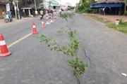 Cận cảnh những vết rạn nứt nghiêm trọng trên Quốc lộ 91