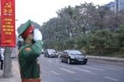 Hình ảnh đoàn xe đưa các biểu tới Trung tâm Hội nghị quốc gia
