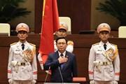 [Photo] Chủ tịch Quốc hội khóa XV Vương Đình Huệ tuyên thệ nhậm chức