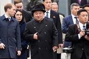 Hình ảnh nhà lãnh đạo Triều Tiên Kim Jong-un đặt chân đến Vladivostok