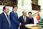 [Photo] Thủ tướng Nguyễn Xuân Phúc làm việc tại Thụy Điển