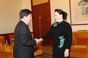 [Photo] Chủ tịch Quốc hội tiếp lãnh đạo các tập đoàn Trung Quốc