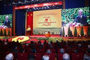 [Photo] Míttinh trọng thể kỷ niệm 90 năm Ngày thành lập Đảng Cộng sản