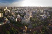 Hình ảnh Tòa nhà Thông tấn quốc gia qua góc nhìn từ trên cao