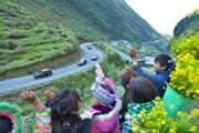 Đoàn xe 'mắt hí' chinh phục những cung đường thách thức tại Hà Giang