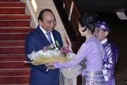 Những hình ảnh đầu tiên trong chuyến thăm Myanmar của Thủ tướng