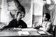 Bác Hồ và Đại tướng Võ Nguyên Giáp trong Chiến dịch Điện Biên Phủ