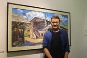 Rực rỡ con người và văn hoá Lào qua triển lãm của họa sỹ Lê Dũng Cường