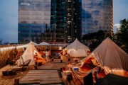 Cận cảnh khu cắm trại đẹp như mơ trên cao ốc 65 tầng giữa Hà Nội