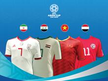 Cận cảnh áo đấu của 24 đội tuyển tham dự VCK Asian Cup 2019