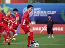 Hình ảnh tuyển Việt Nam 'luyện công' sẵn sàng cho trận gặp Iraq