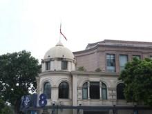 Nhiều công sở bắt đầu treo cờ rủ tưởng nhớ Chủ tịch Trần Đại Quang