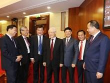 Hình ảnh lãnh đạo Đảng, Nhà nước với các đại biểu dự Hội nghị TW9