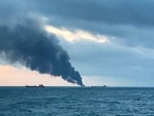 Nga: 11 người thiệt mạng trong vụ cháy tàu ở eo biển Kerch
