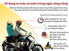 [Infographics] Sử dụng xe máy an toàn trong ngày nắng nóng