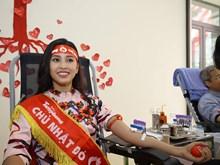 [Photo] Hoa hậu Trần Tiểu Vy lần đầu tham gia hiến máu tình nguyện