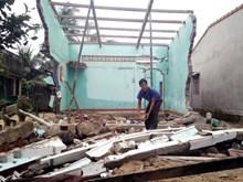 Bình Định hỗ trợ xây gần 700 nhà cho hộ bị sập, hư hỏng nặng do mưa lũ