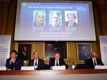 Giải Nobel Kinh tế 2013 thuộc về ba nhà khoa học Mỹ