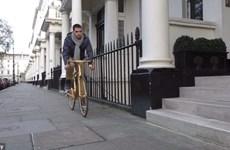 [Photo] Cận cảnh xe đạp mạ vàng, đắt hơn cả siêu xe Ferrari