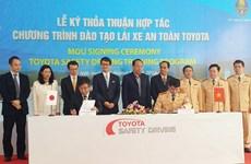 Toyota hợp tác đào tạo lái xe an toàn với Bộ Công an