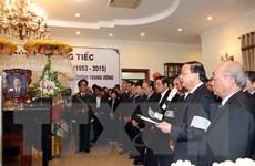 Hình ảnh tại lễ Truy điệu ông Nguyễn Bá Thanh ở Đà Nẵng