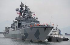 [Photo] Cận cảnh chiến hạm Nga Pantelev vừa cập cảng Tiên Sa