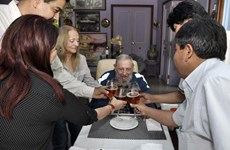 [Photo] Giản dị sinh nhật lần thứ 89 của Lãnh tụ Cuba Fidel Castro