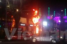 Singapore: Cây thông Noel khu trung tâm mua sắm bất ngờ bốc cháy