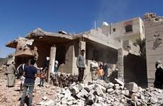 Liên quân Saudi Arabia không kích trúng trụ sở cảnh sát ở Yemen
