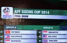 Việt Nam chung bảng với Indonesia và Philippines tại AFF Cup