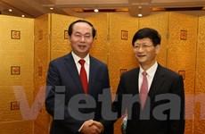 Bộ trưởng Trần Đại Quang thăm và làm việc tại Trung Quốc