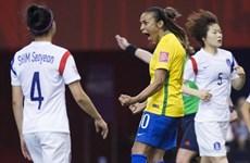 Siêu sao Marta trở thành chân sút vĩ đại nhất lịch sử World Cup