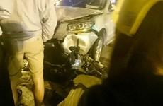 Hà Nội: Hai ôtô truy đuổi nhau trên đường gây ra hàng loạt vụ tai nạn
