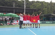Đội tuyển Việt Nam xuất sắc đánh bại Indonesia ở Davis Cup