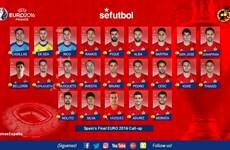 Đương kim vô địch Tây Ban Nha chốt danh sách dự EURO 2016