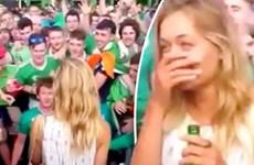 Người đẹp Pháp ngỡ ngàng với màn tỏ tình của CĐV tuyển Ireland