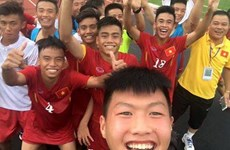 Cận cảnh U16 Việt Nam thẳng tiến bán kết với thành tích bất bại