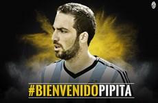 Higuain trở thành cầu thủ đắt giá thứ 3 lịch sử chuyển nhượng