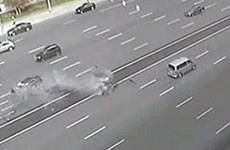 Cận cảnh tai nạn kinh hoàng khiến tài xế Điện Kremlin thiệt mạng