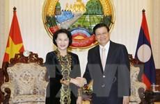 Chuyến thăm của Chủ tịch Quốc hội thắt chặt quan hệ Việt-Lào