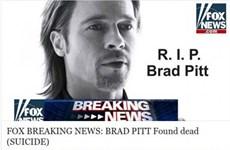 Điện thoại có nguy cơ dính mã độc vì một tin dữ về Brad Pitt