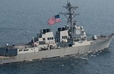 Tàu chiến Mỹ cập cảng Vịnh Manila sau khi diễn tập với Brunei