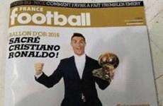 Lộ hình ảnh Ronaldo giành Quả bóng Vàng trên France Football