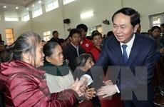 Chủ tịch nước Trần Đại Quang thăm chúc Tết tại tỉnh Nghệ An