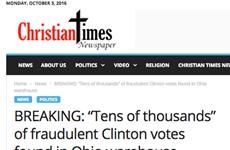 """""""Kiệt tác"""" về tin tức giả trong cuộc bầu cử Tổng thống Mỹ"""