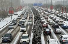 Tuyết rơi dày khiến giao thông Trung Quốc ảnh hưởng nghiêm trọng