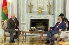 Bộ trưởng Bộ Công an Tô Lâm thăm và làm việc tại Belarus