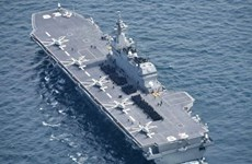 Nhật Bản có kế hoạch triển khai tàu chiến lớn nhất ra Biển Đông